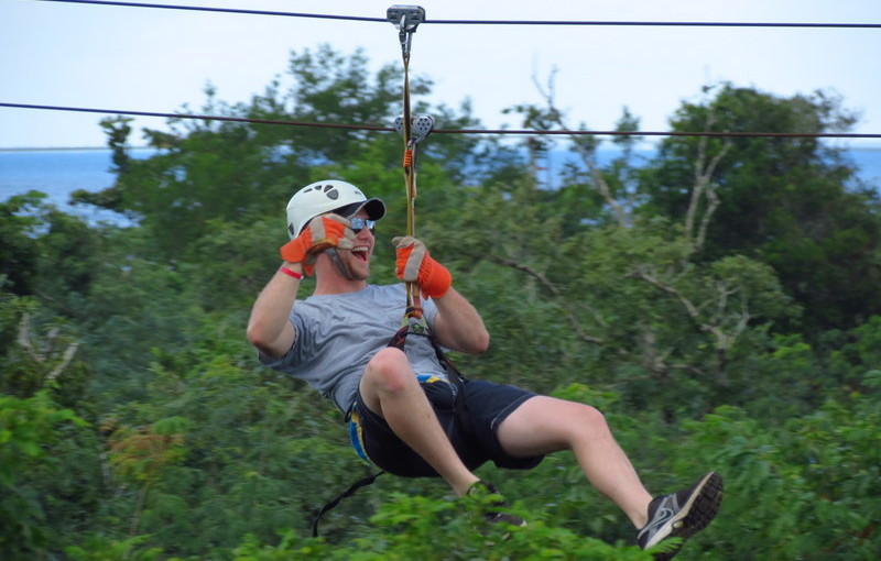 Zip-lining in Mexico