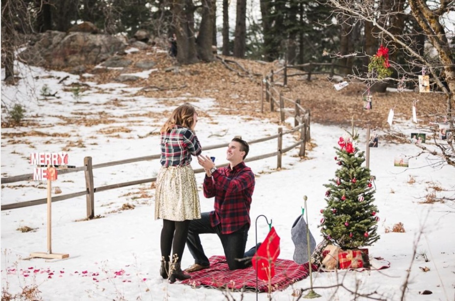 Christmastime Proposal Merry Me Marry Me