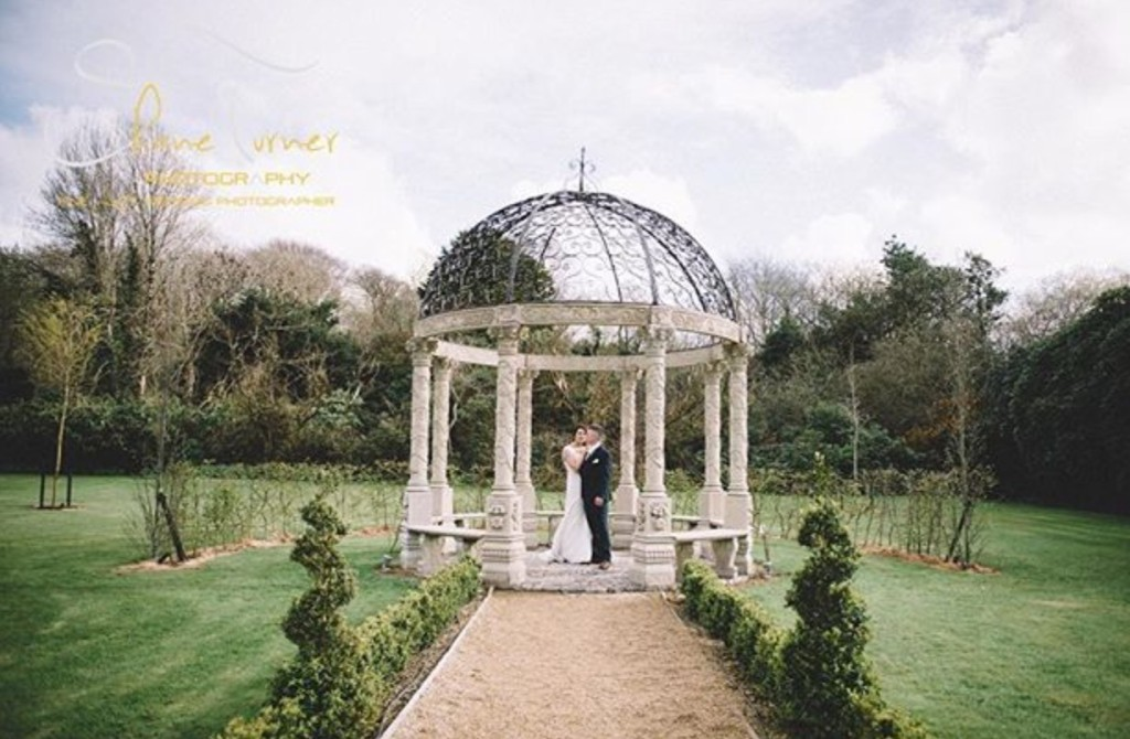 Ballyseede Castle Garden Gazebo Kerry Ireland Wedding