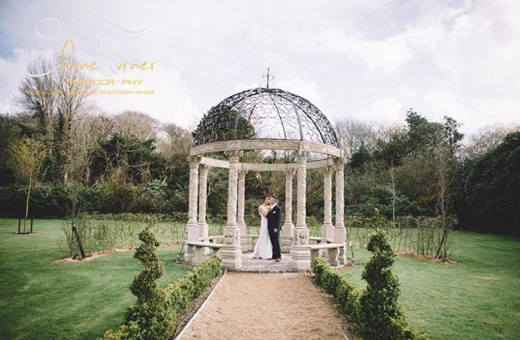 Ballyseede Castle Garden Gazebo Kerry Ireland Wedding