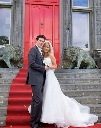 Ballyseede Castle Kerry Ireland Wedding Red Carpet