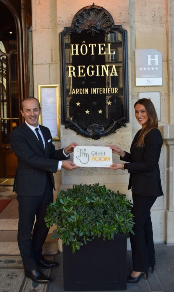 Hotel Regina Quiet Room Designation Award Paris France