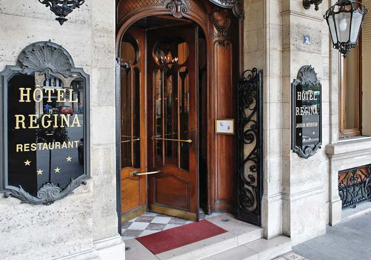 Hotel Regina Revolving Doors Paris