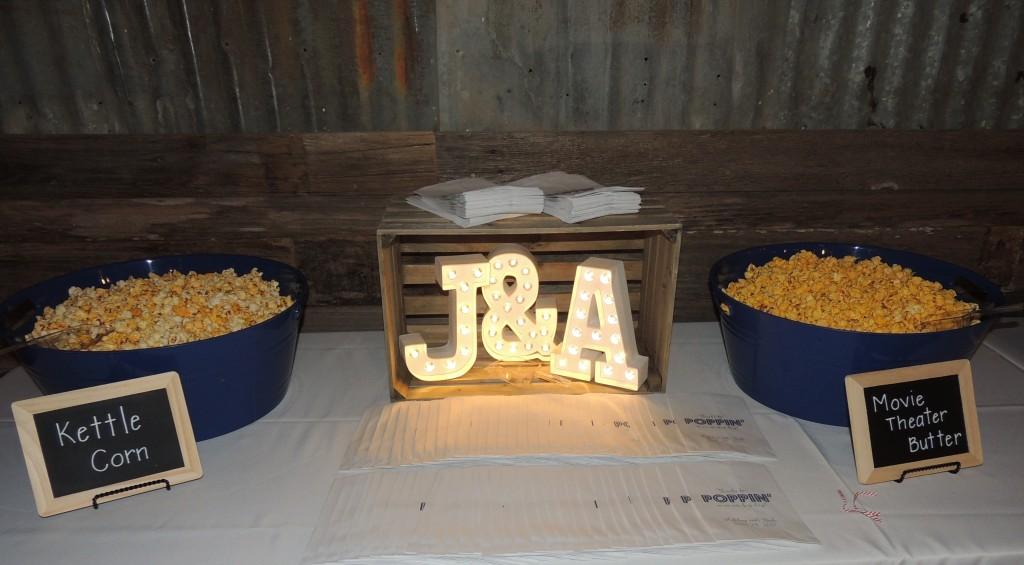 Tirzah Central Texas Wedding Josh and Ashley Champ Reception Appetizer Popcorn