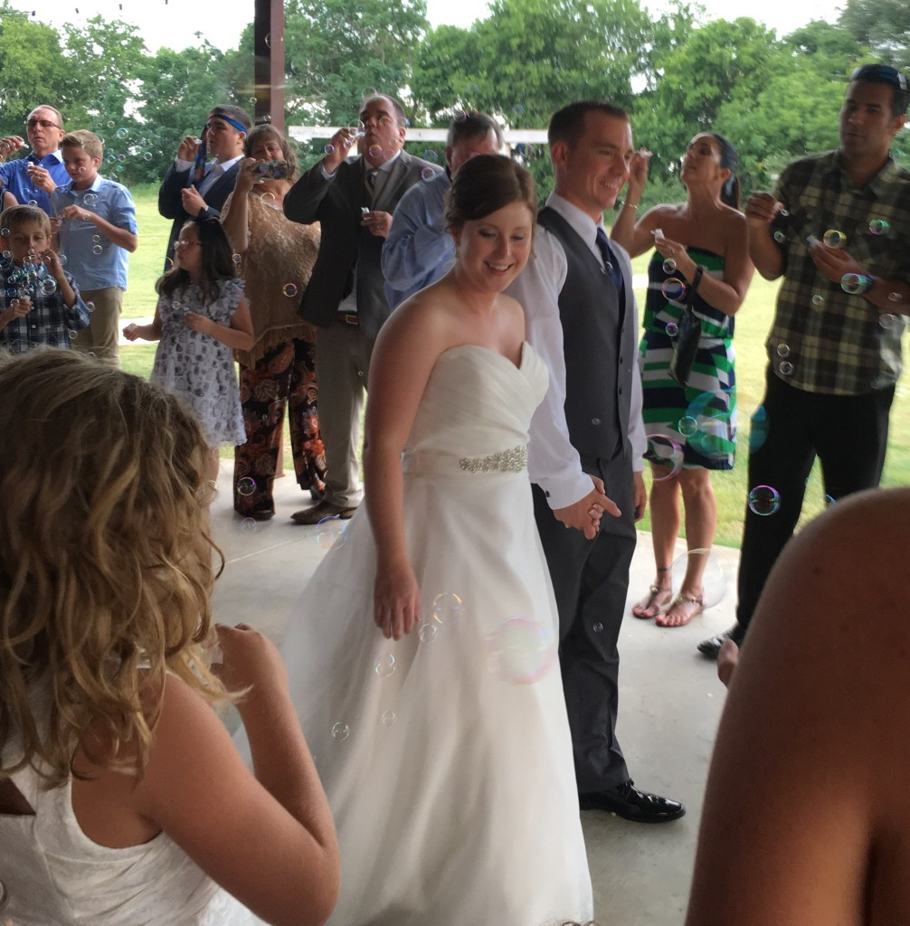 Tirzah Central Texas Wedding Josh and Ashley Champ Rustic Acres Final Farewell Bubbles