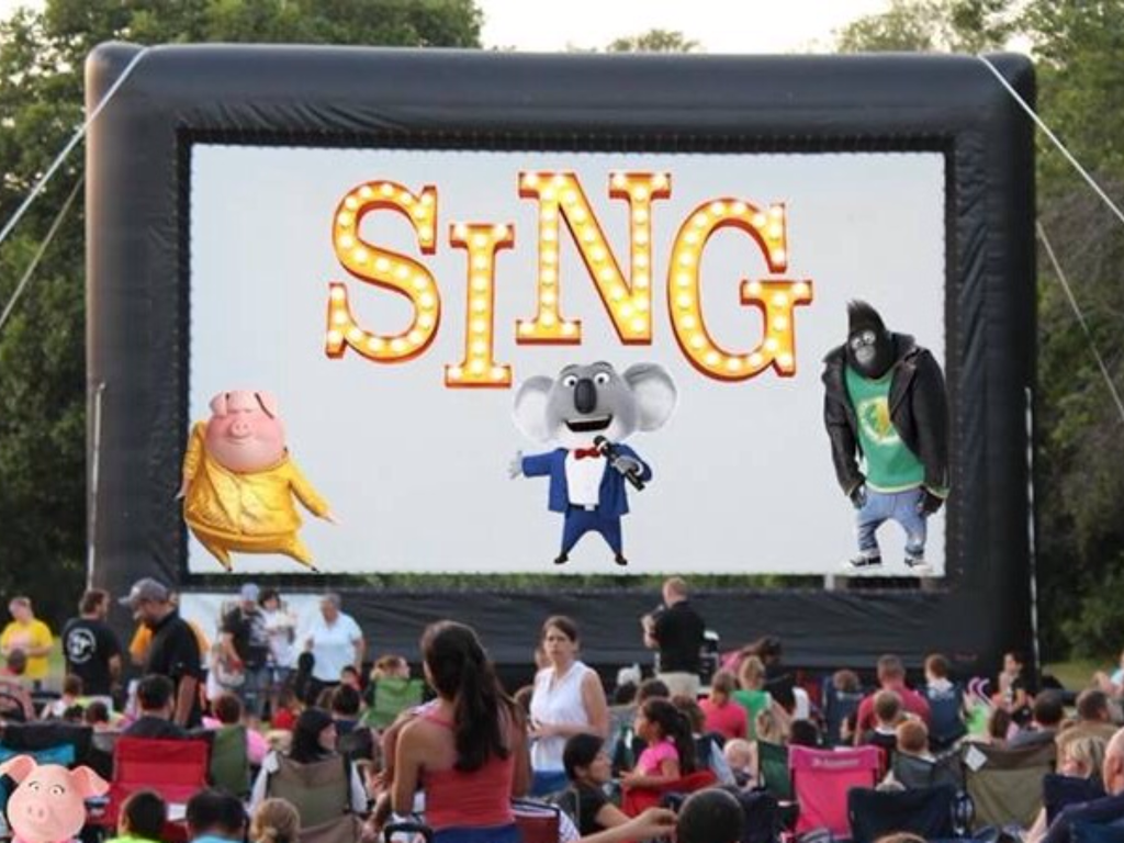 Tirzah Travels - Belton Texas - Movies Under the Stars - Sing