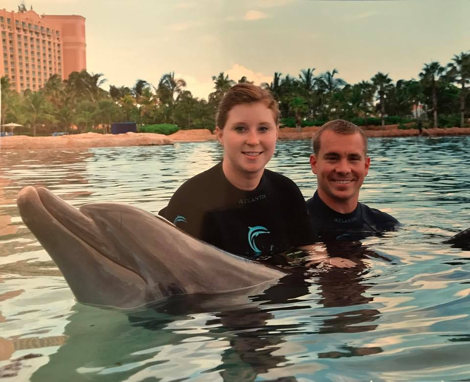 Champ Wedding Honeymoon Bahamas Atlantis Swimming with the Dolphins
