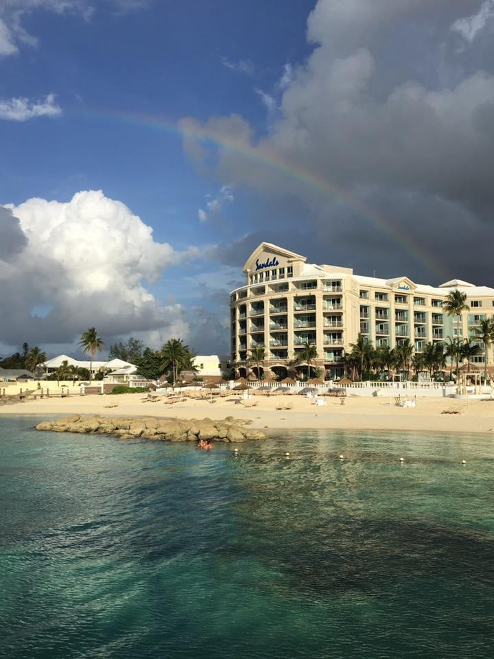 Champ Wedding Honeymoon Bahamas Sandals Rainbow