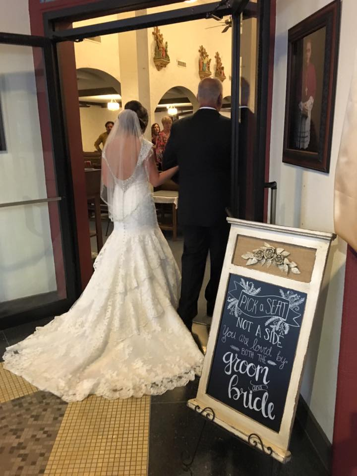 Weddings by Tirzah Central Texas Wedding Josh and Christine Marin Wedding Father Daughter Walking Down the Aisle
