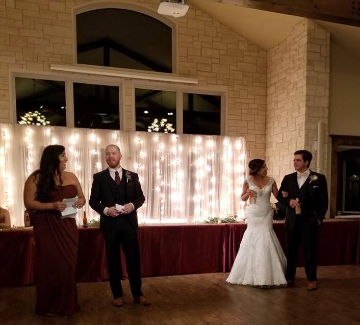 Weddings by Tirzah Central Texas Wedding Josh and Christine Marin Wedding Toasts