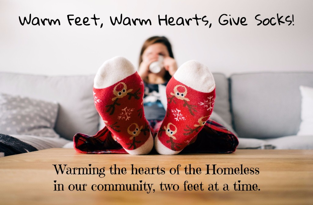 Footprints of His Love Sock Collection Drive for the Homeless