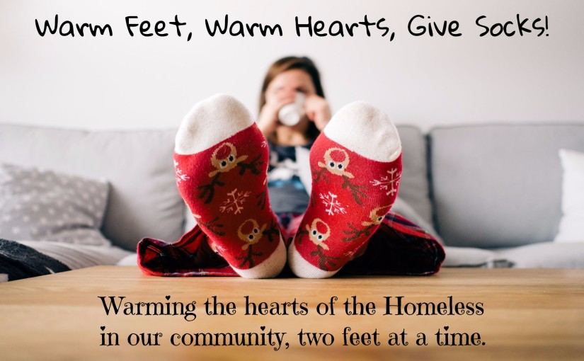 Warm Feet, Warm Hearts, Give Socks!