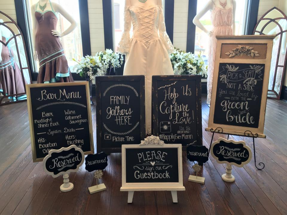 Weddings by Tirzah Central Texas Wedding Josh and Christine Marin Wedding Chalkboard Art