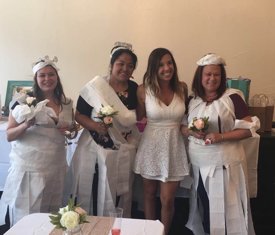 Bridal Shower at Tirzah - Toilet Paper Game