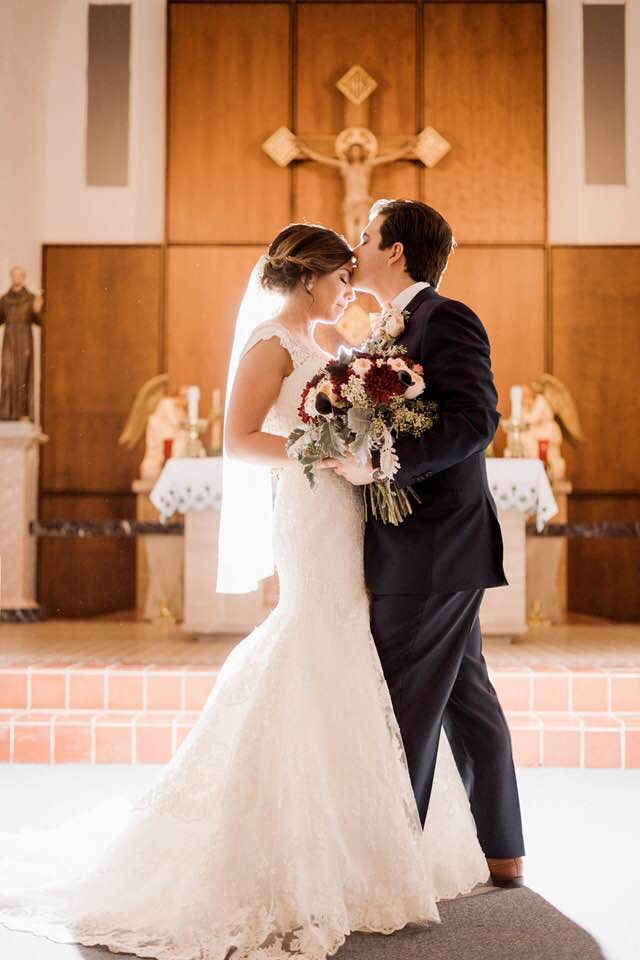 Joshua and Christine Marin - Weddings by Tirzah - St. Mary's Catholic Church