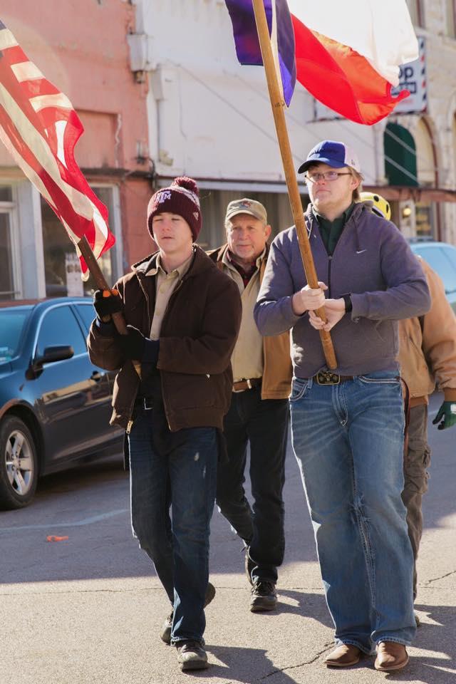 Tirzah Ribbon Cutting Ceremony - Boy Scouts Flag - N East Street Belton Texas