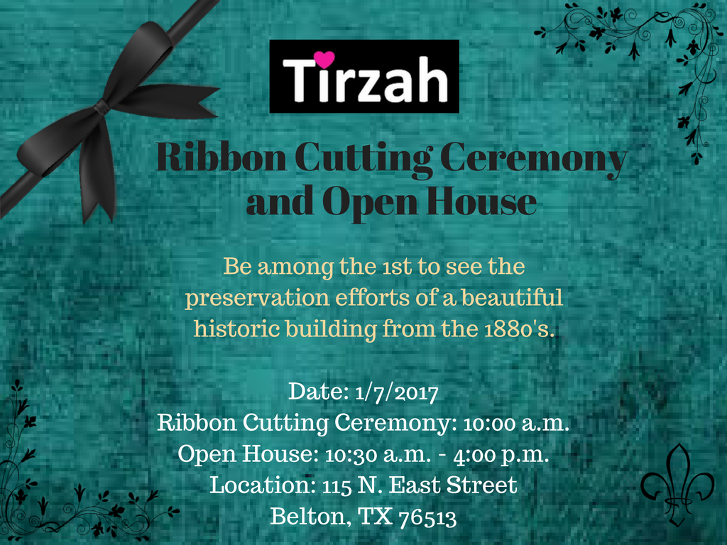 Tirzah Ribbon Cutting Ceremony Invitation