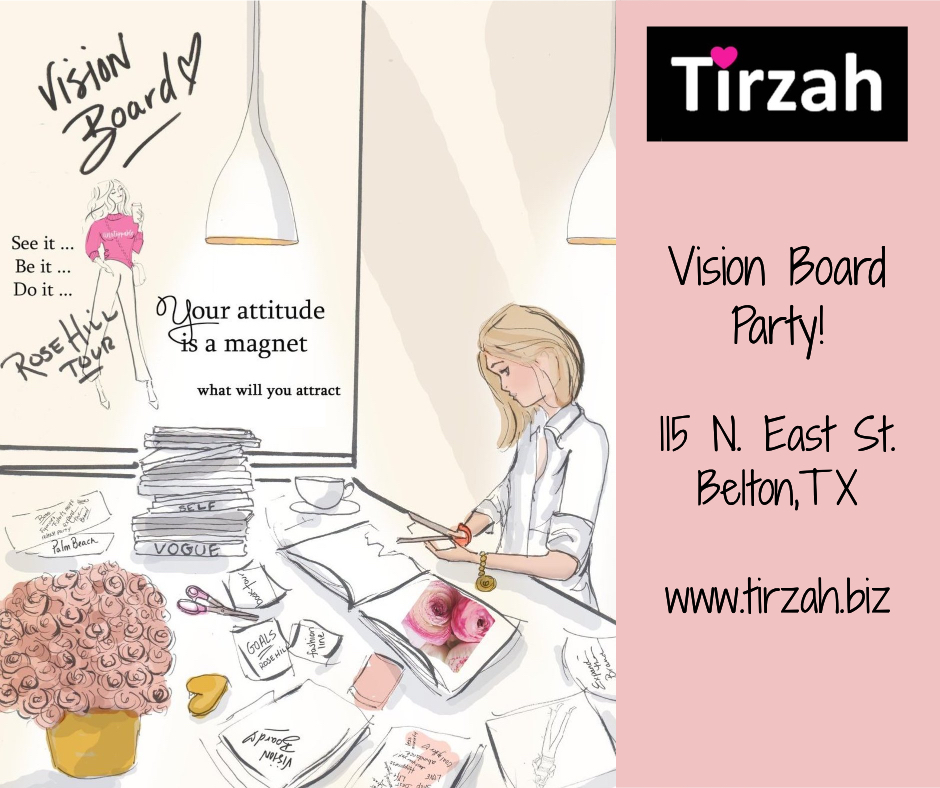 Create a Vision Board at Tirzah - Invitation