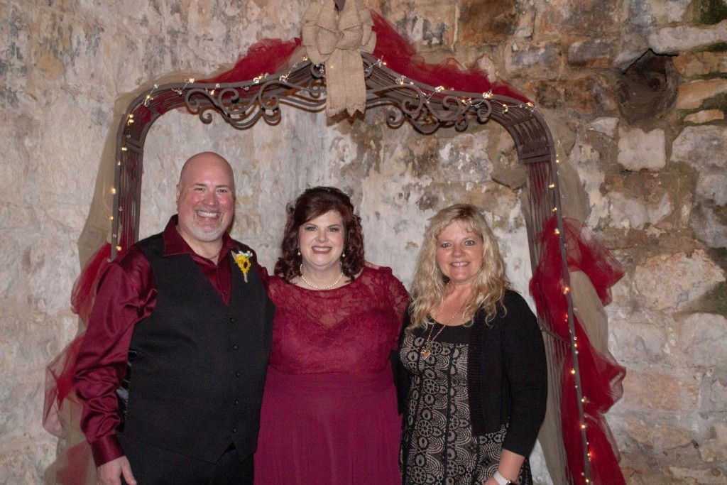 Diana with Bride and Groom Wedding Tirzah Belton Texas