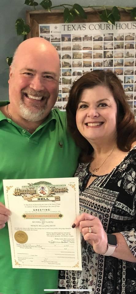 Marriage License - Bride and Groom - Weddings by Tirzah - Belton Texas
