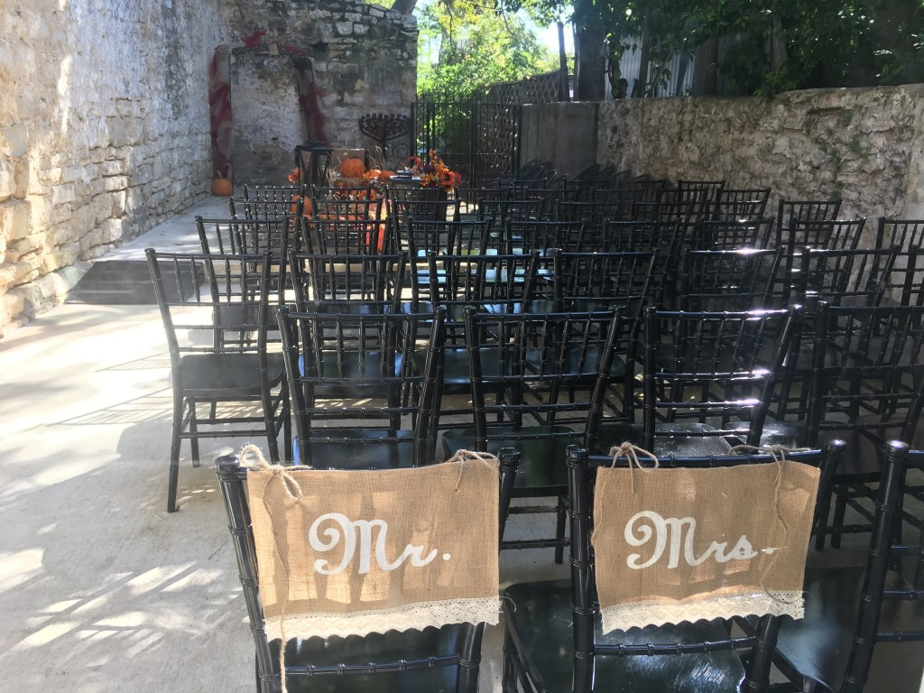 Mike and Montie's Wedding - Courtyard Seating for the Wedding Ceremony1