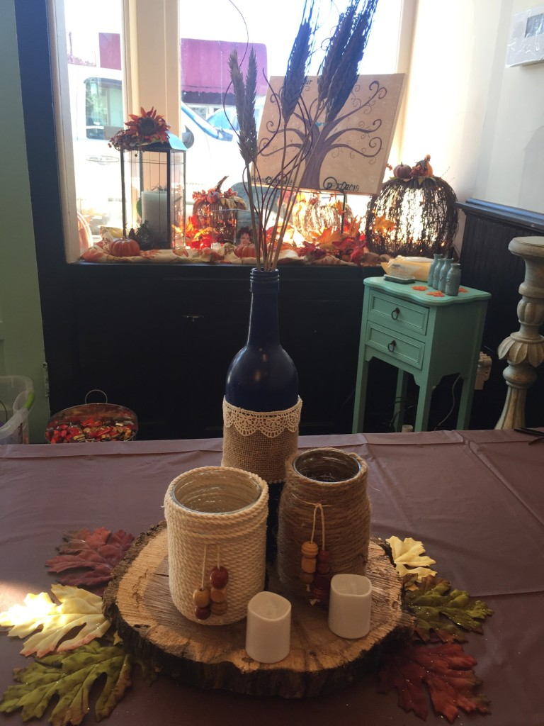 Mike and Montie's Wedding - Grand Romm Table Decorations