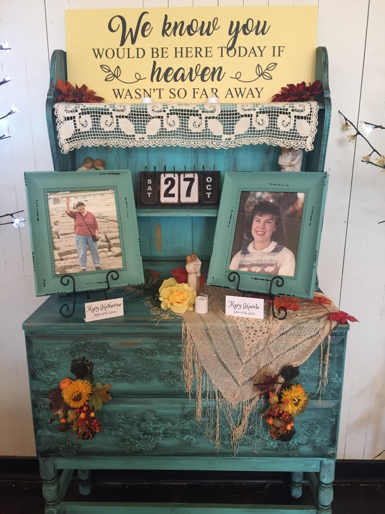 Mike and Montie's Wedding - In Loving Memory Display