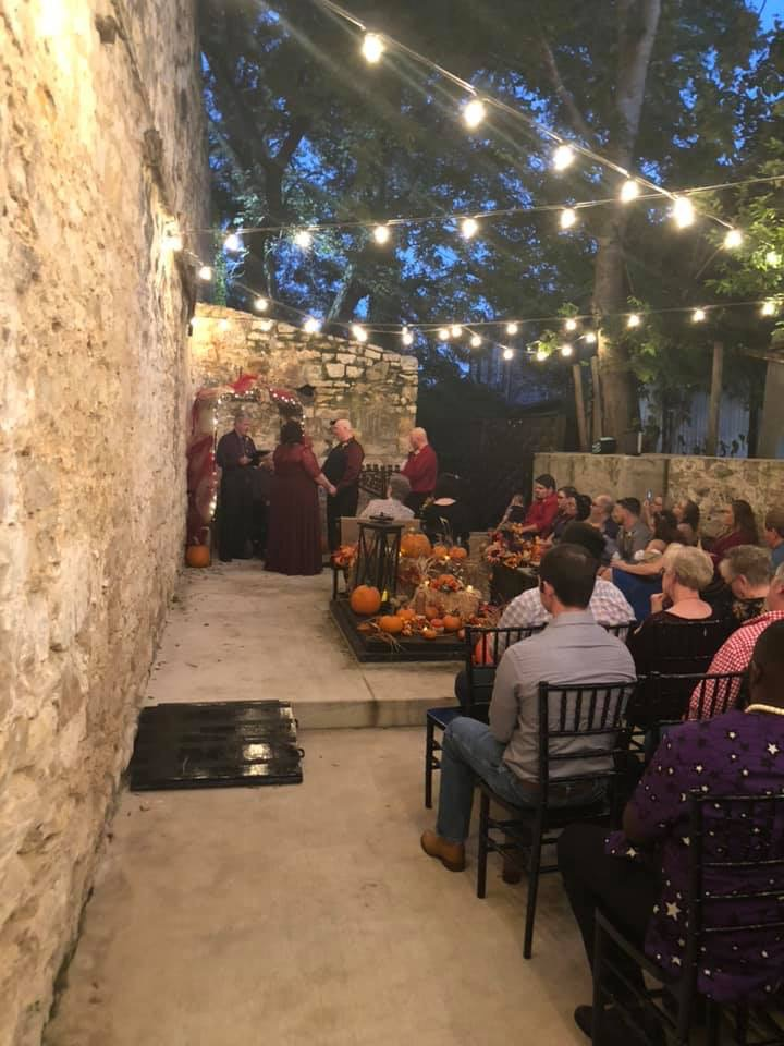 Mike and Montie's Wedding in the Courtyard at Tirzah